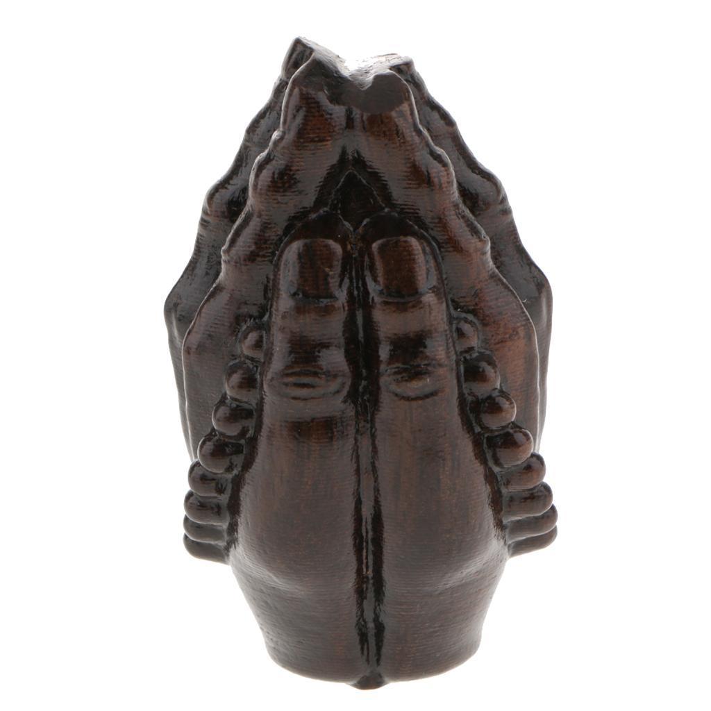 miniatura 10 - Statua Buddista Figurina Artigianale Ornamenti Supporto Tavolo Legno