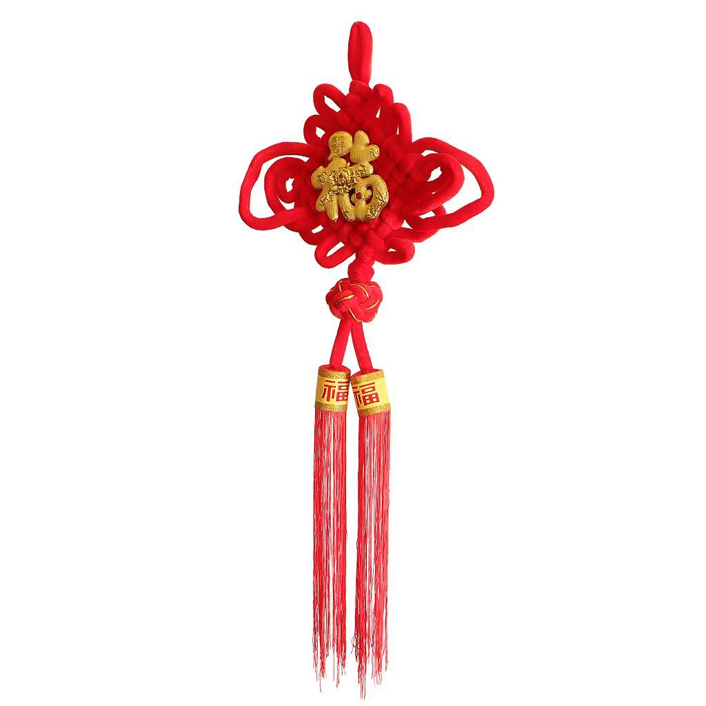 miniatura 8 - 1pcs nodo cinese Fu Hanging Festival Knot Fu Fu appeso per la casa