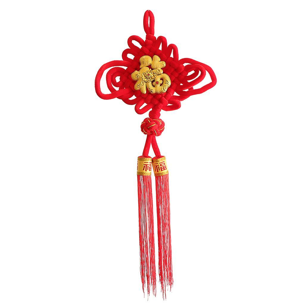 miniatura 9 - 1pcs nodo cinese Fu Hanging Festival Knot Fu Fu appeso per la casa