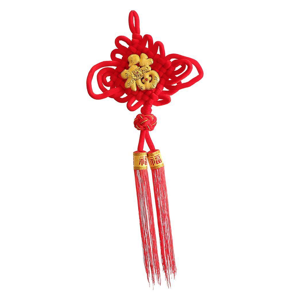 miniatura 10 - 1pcs nodo cinese Fu Hanging Festival Knot Fu Fu appeso per la casa