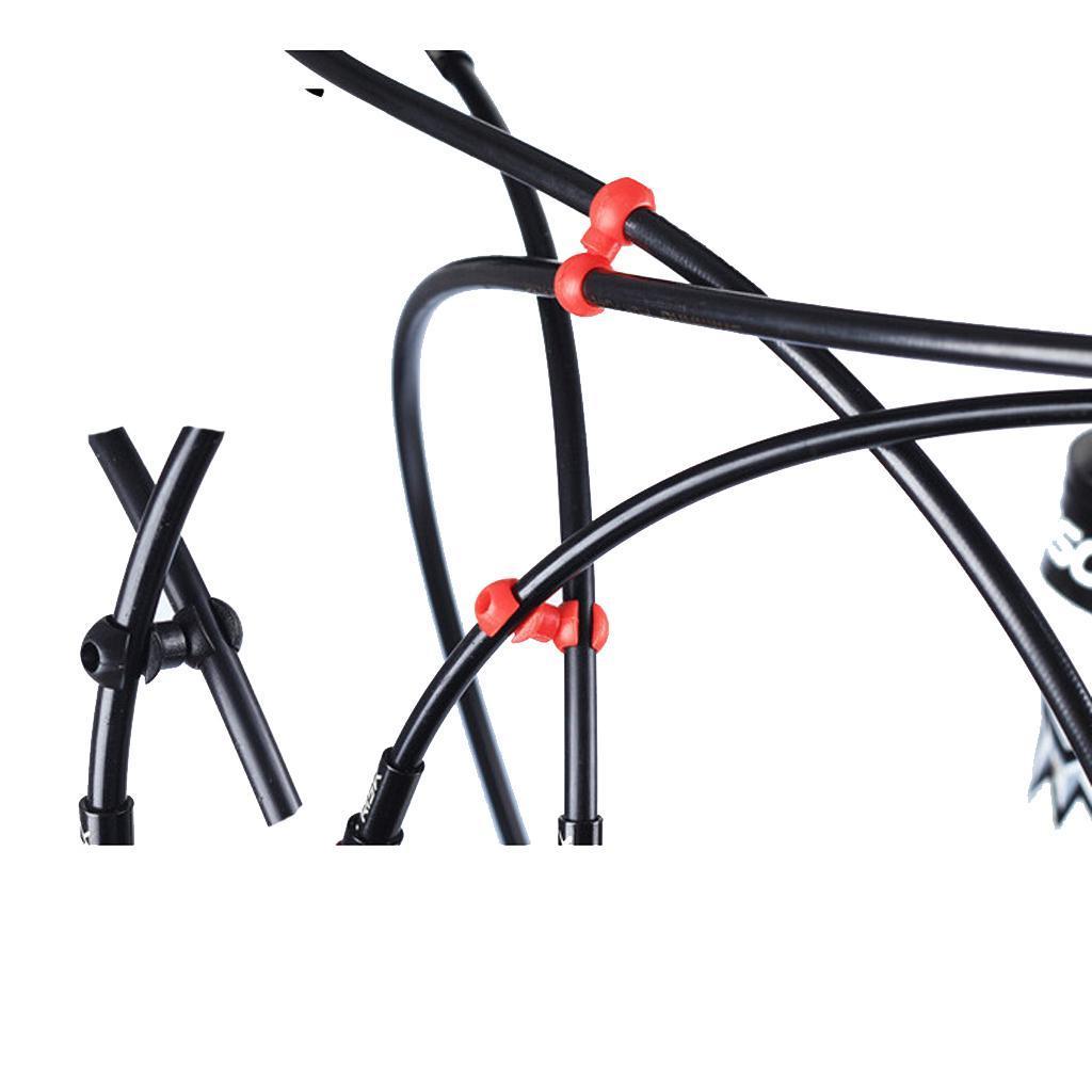 10pcs-Clips-de-Velo-VTT-Crochet-Reglable-Boucle-de-Fixation-pour-Cable-de-Frein miniature 11