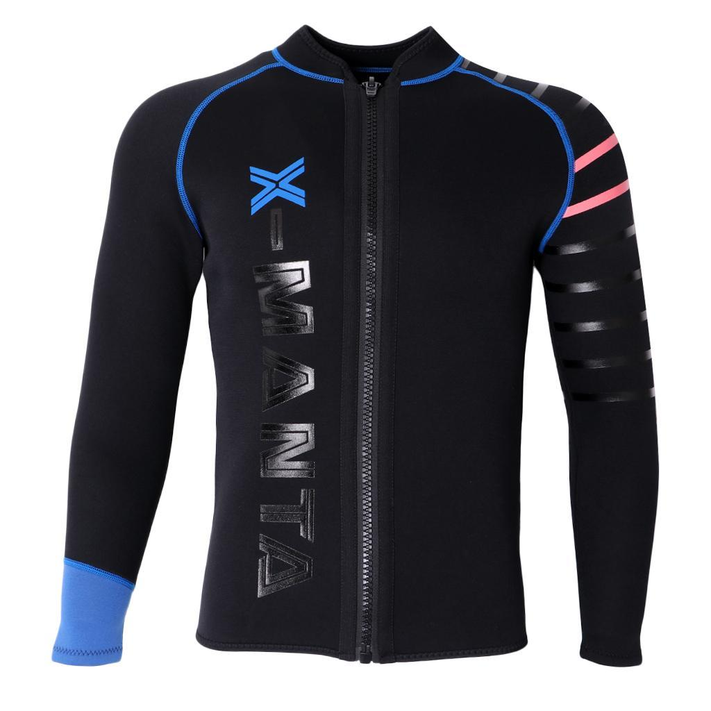 Mens-Wetsuit-Long-Sleeve-3mm-Neoprene-Wet-Suit-Surf-Scuba-Diving-Watersports thumbnail 12