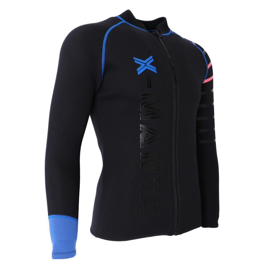 Mens-Wetsuit-Long-Sleeve-3mm-Neoprene-Wet-Suit-Surf-Scuba-Diving-Watersports thumbnail 13
