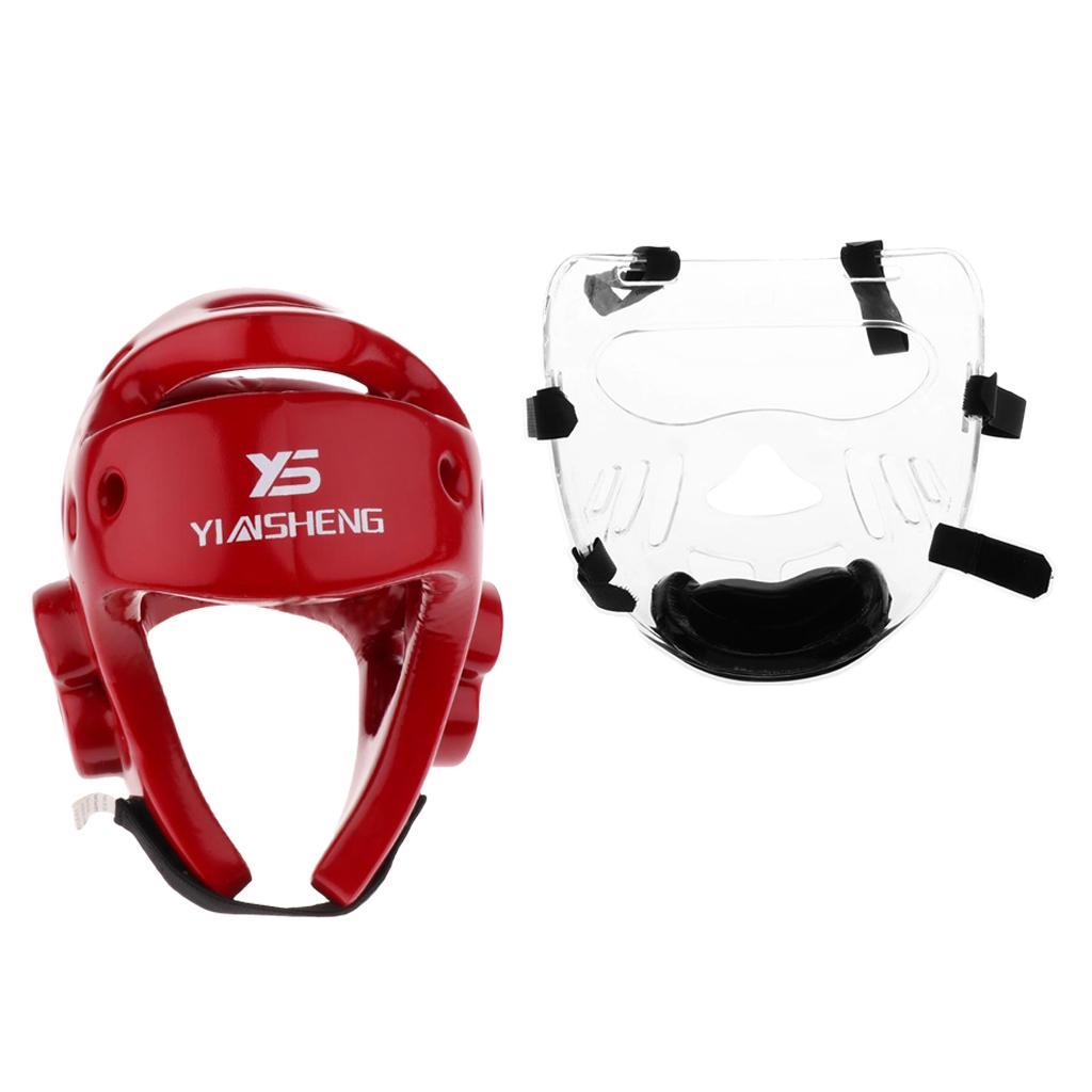 Adults Taekwondo Protective Gear MMA Kick Soft Sponge Headgear Helmets