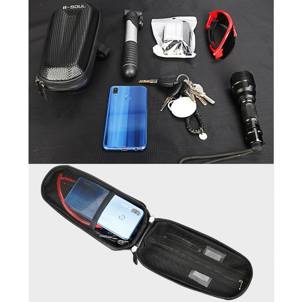 Bicycle-Front-Frame-Pannier-Bike-Tube-Bag-Mobile-Phone-Tools-Storage-Pouch thumbnail 7