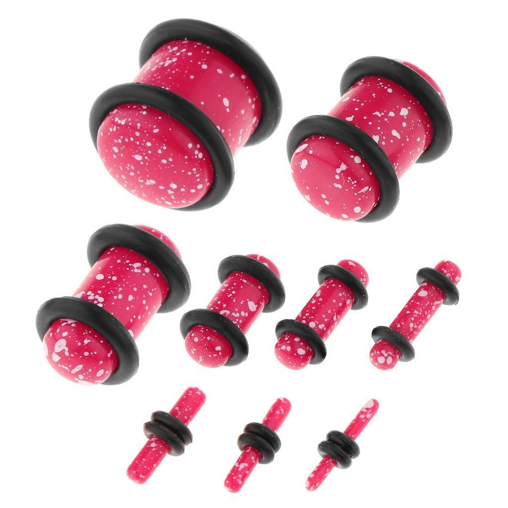 Set-18Pcs-Earplugs-Tunnel-Dilatation-Jewelry-Donna-Fashion-Fibbie miniatura 8