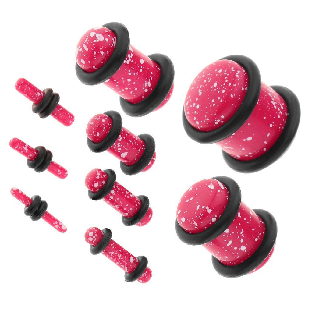Set-18Pcs-Earplugs-Tunnel-Dilatation-Jewelry-Donna-Fashion-Fibbie miniatura 9