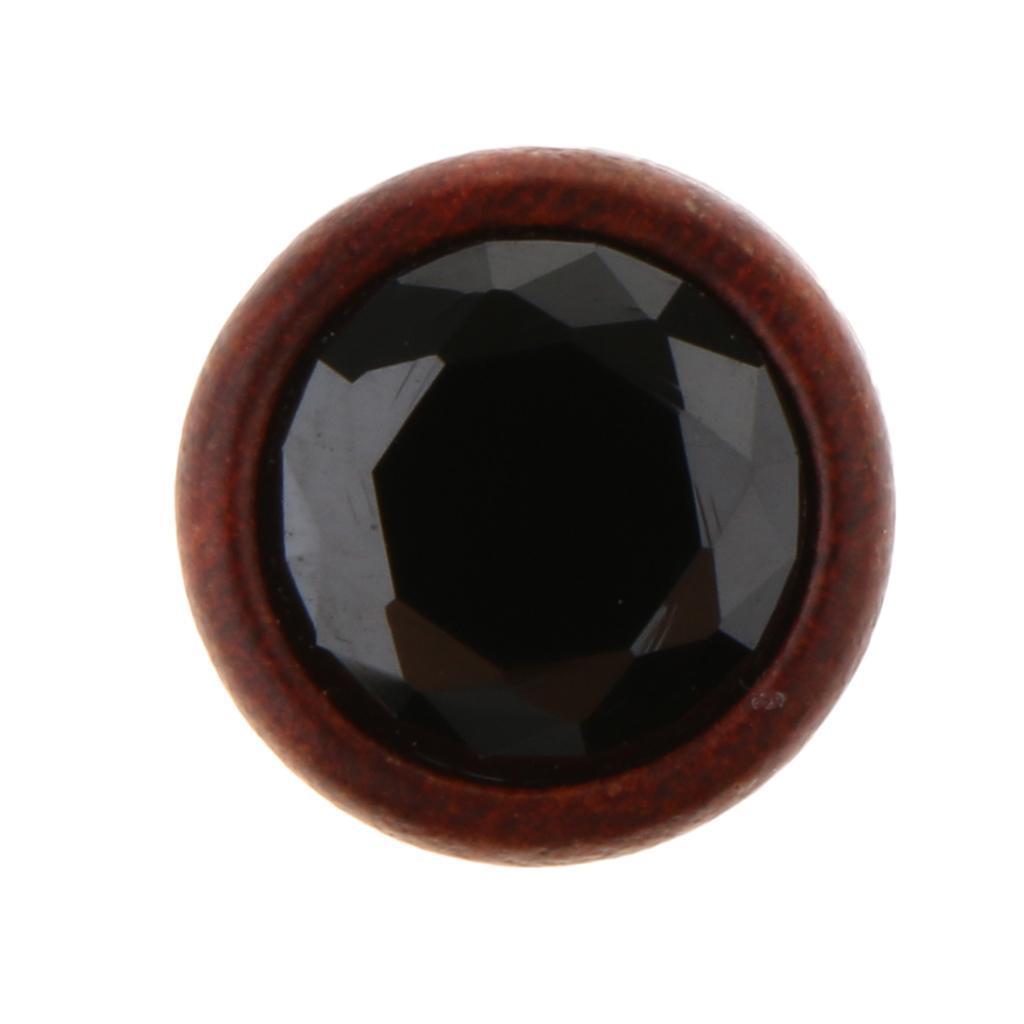 2Pcs-Barelle-per-calibri-tunnel-in-legno-di-zirconite-vintage-rosso-sandalo miniatura 16
