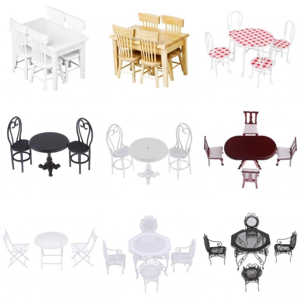 DOLLS HOUSE MINIATURES Furniture Table Chairs Kit Kitchen