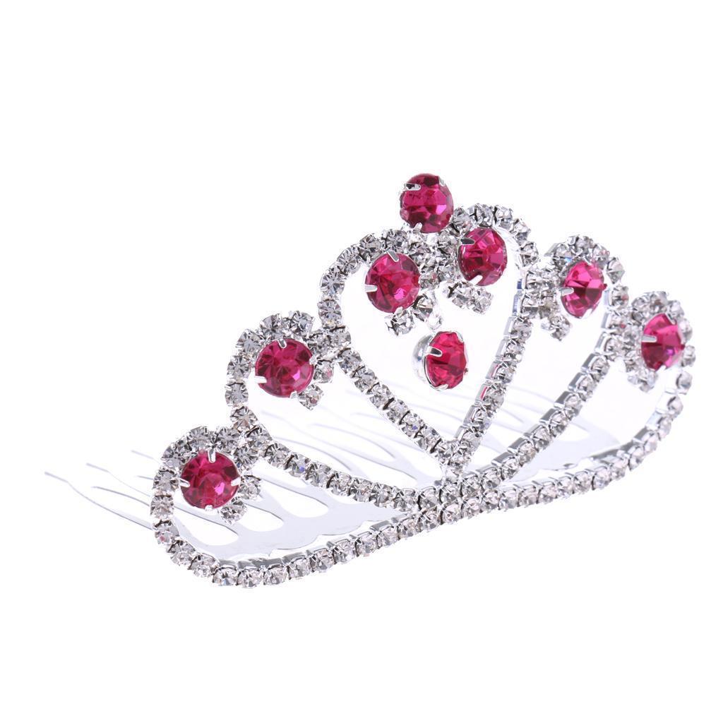 Princess-Crystal-Mini-Hair-Crown-Tiara-Hair-Comb-Girls-Woman-Wedding-Party-Gift thumbnail 32