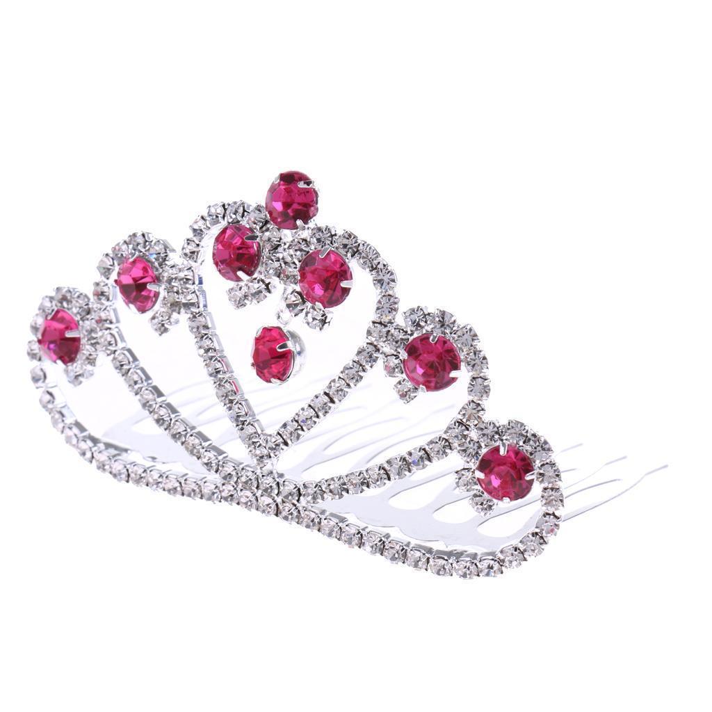 Princess-Crystal-Mini-Hair-Crown-Tiara-Hair-Comb-Girls-Woman-Wedding-Party-Gift thumbnail 33