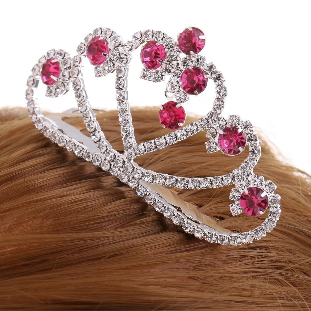 Crystal-Mini-Crown-Tiara-Girls-Woman-Fancy-Dress-Hair-Comb-Wedding-Party-Gift thumbnail 15