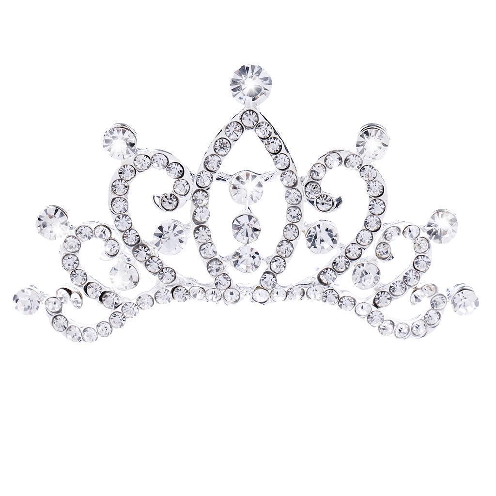 Princess-Crystal-Mini-Hair-Crown-Tiara-Hair-Comb-Girls-Woman-Wedding-Party-Gift thumbnail 54