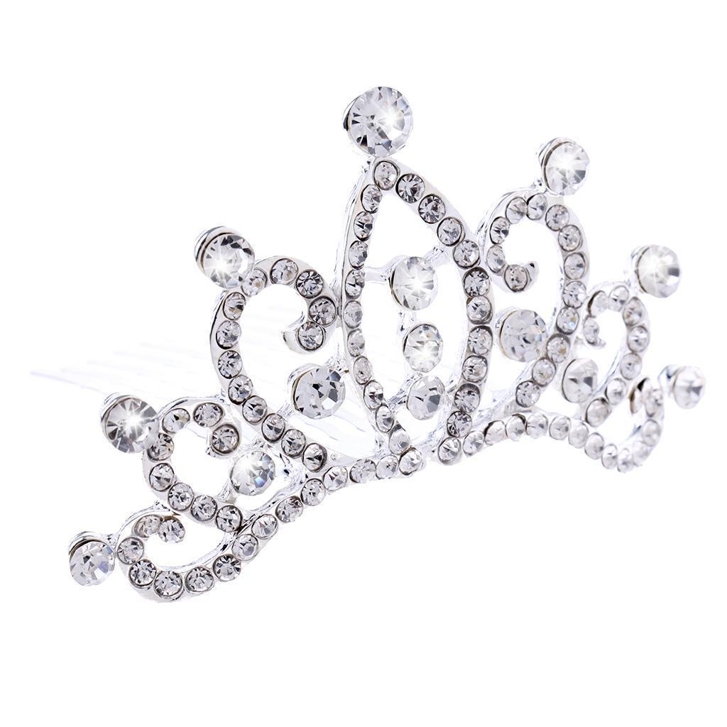 Princess-Crystal-Mini-Hair-Crown-Tiara-Hair-Comb-Girls-Woman-Wedding-Party-Gift thumbnail 55