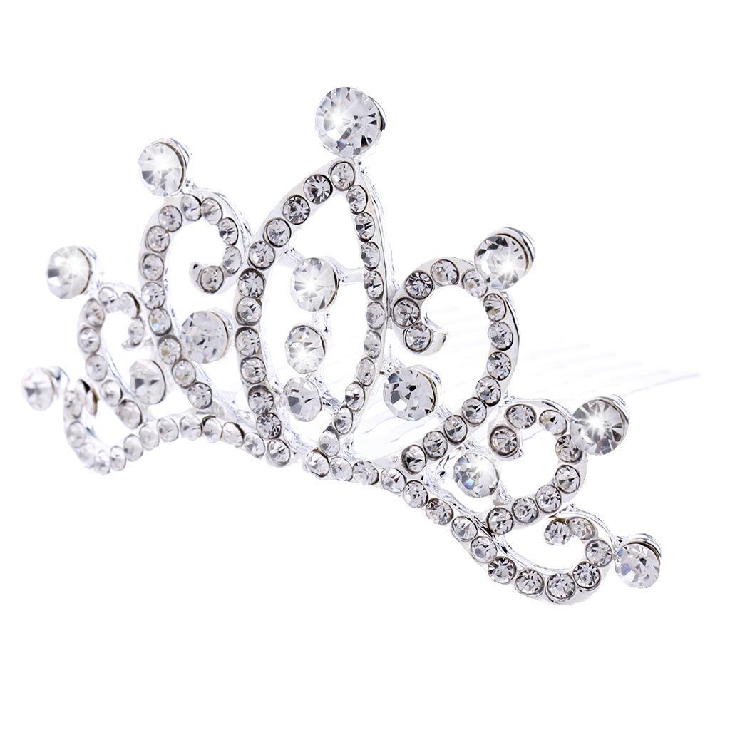 Princess-Crystal-Mini-Hair-Crown-Tiara-Hair-Comb-Girls-Woman-Wedding-Party-Gift thumbnail 56
