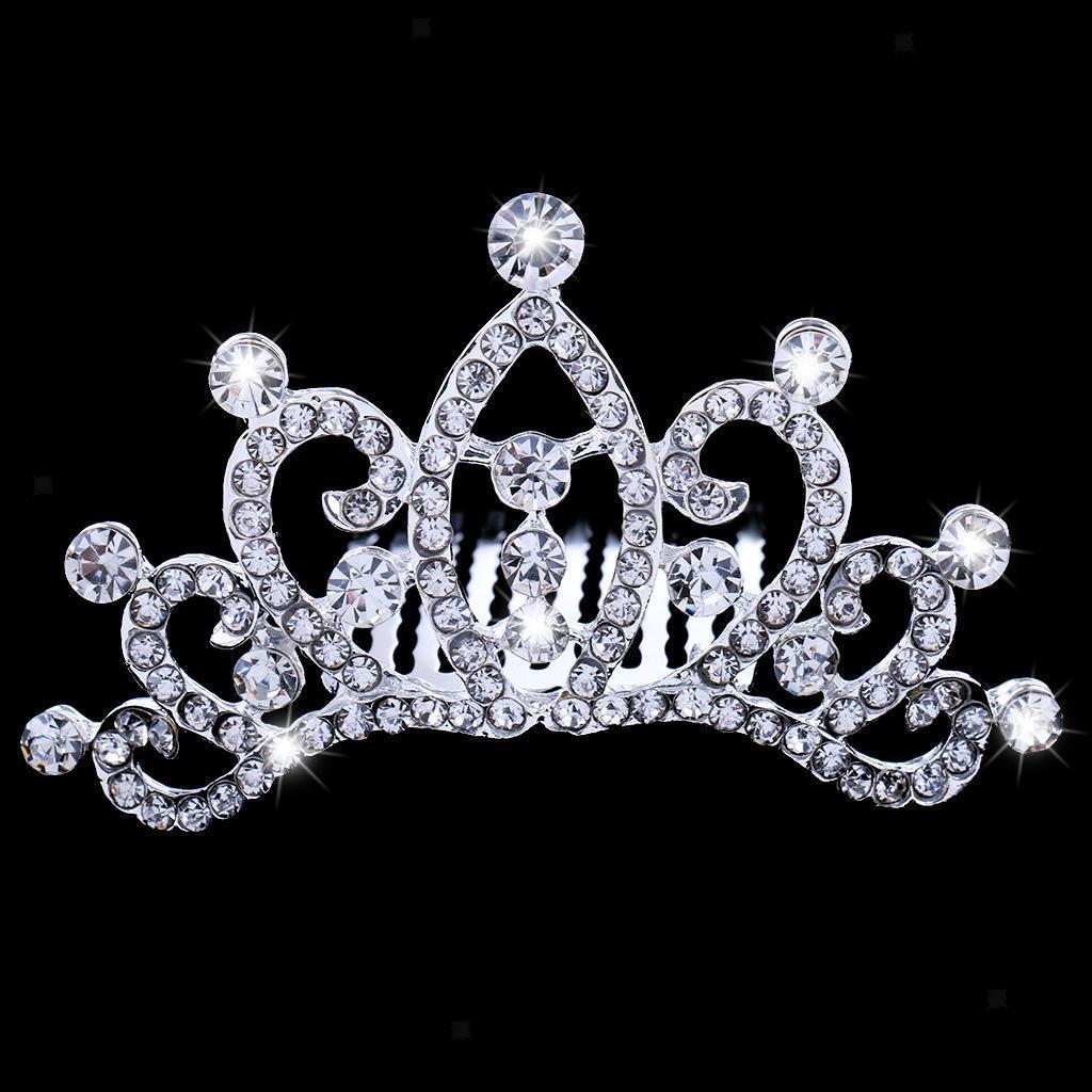 Princess-Crystal-Mini-Hair-Crown-Tiara-Hair-Comb-Girls-Woman-Wedding-Party-Gift thumbnail 57