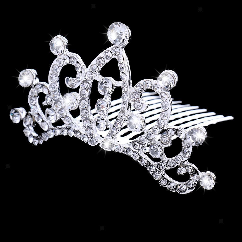 Princess-Crystal-Mini-Hair-Crown-Tiara-Hair-Comb-Girls-Woman-Wedding-Party-Gift thumbnail 58