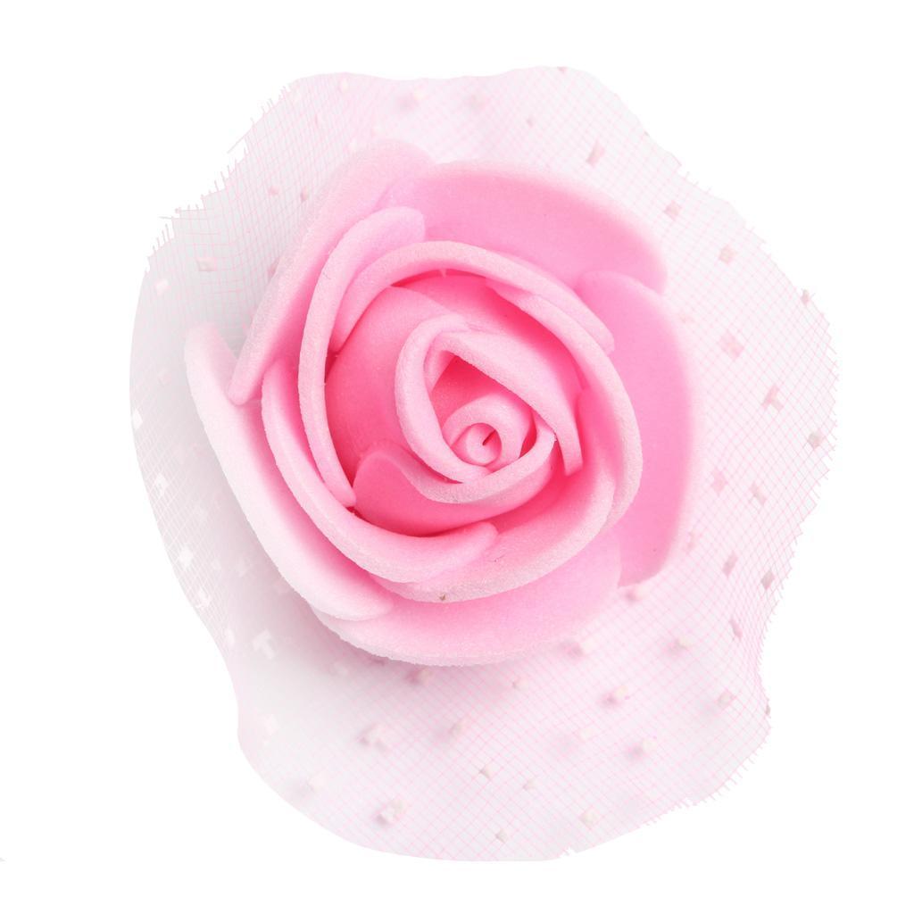 100-Pieces-Romantique-Mousse-Artificielle-Rose-Tete-Fleurs-De-Mariage miniature 23