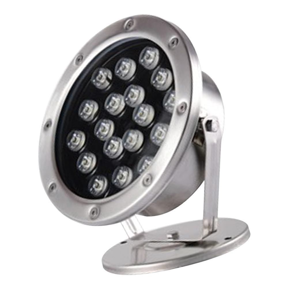 miniatura 11 - Lampada Illuminazione Subacquea LED Luce Fontane Stagni Lega Alluminio 18W