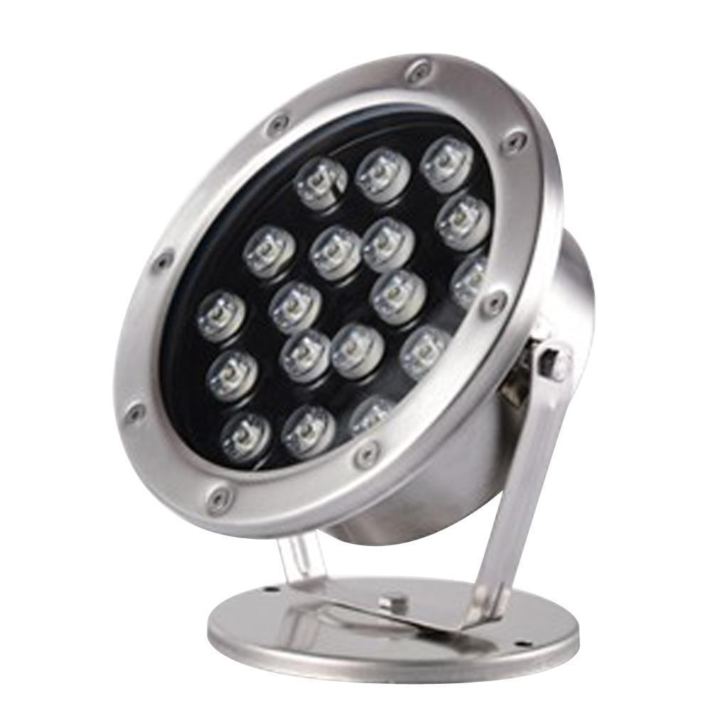 miniatura 10 - Lampada Illuminazione Subacquea LED Luce Fontane Stagni Lega Alluminio 18W