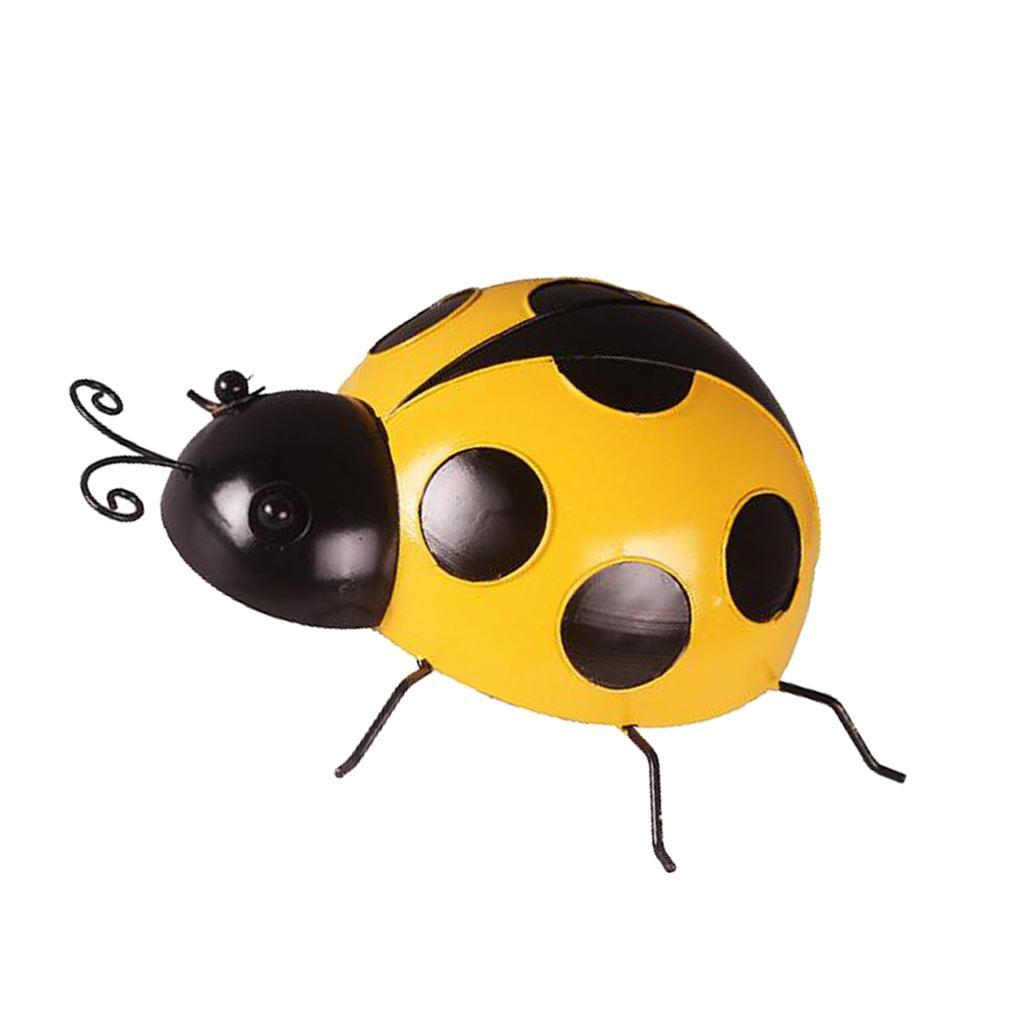 Metal-Ladybug-Garden-Decoration-Wall-Hanging-Sculpture-Figure-Hanger-Decor thumbnail 12
