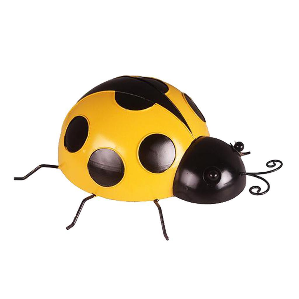 Metal-Ladybug-Garden-Decoration-Wall-Hanging-Sculpture-Figure-Hanger-Decor thumbnail 13