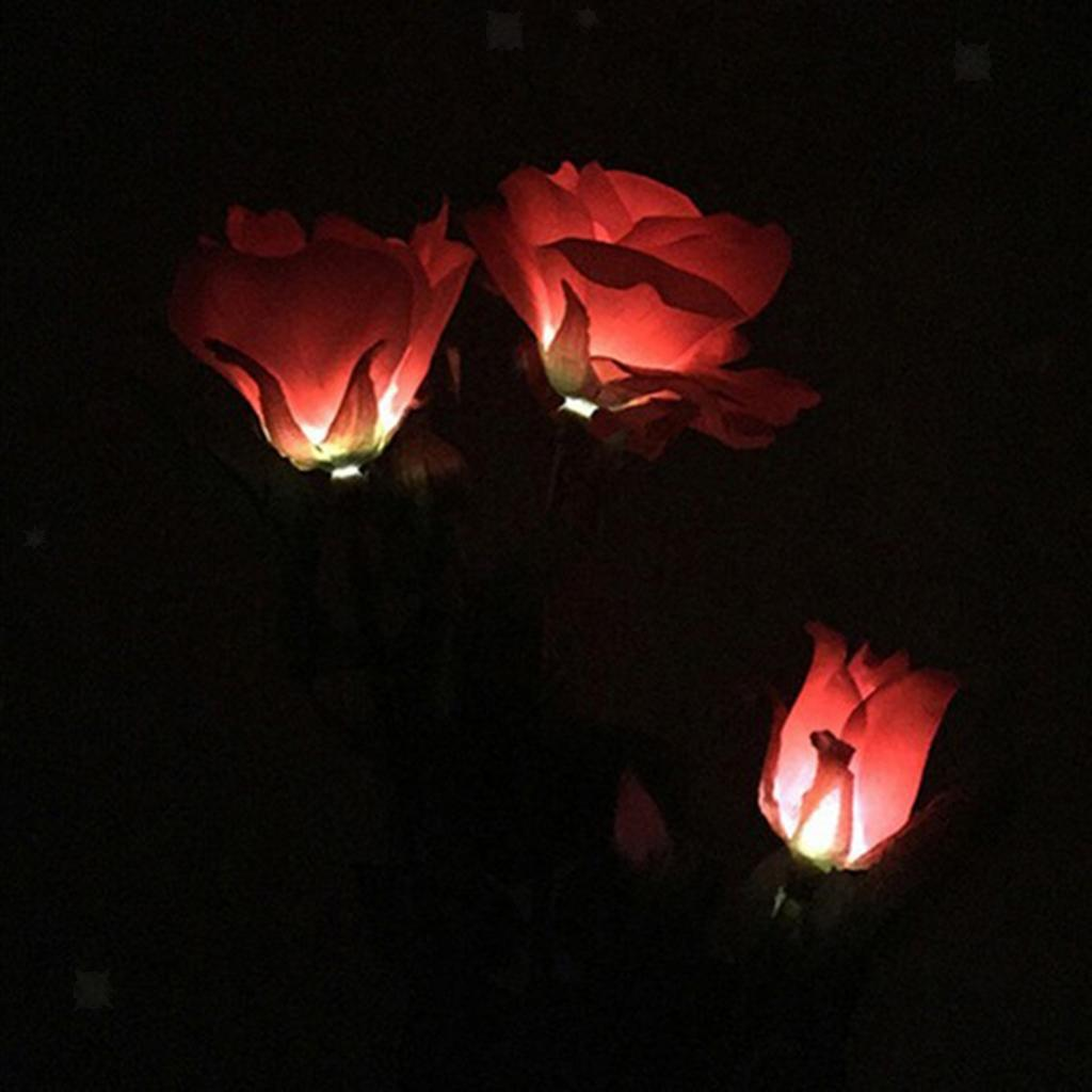 LED-Lampe-de-Voie-Jardin-Paysage-Lumieres-Eclairage-Solaires miniatura 3