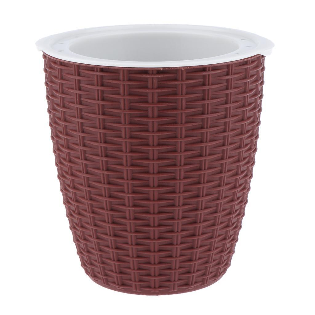 Self-Watering-ABS-Rattan-Flower-Pot-Plant-Home-Office-Decor-S-M-L-3Sizes thumbnail 10