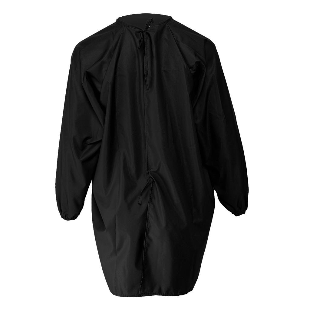 Impermeable-Cape-de-Coupe-Cheveux-Tablier-Coiffeur-Robe-Styliste-de-Salon miniature 4