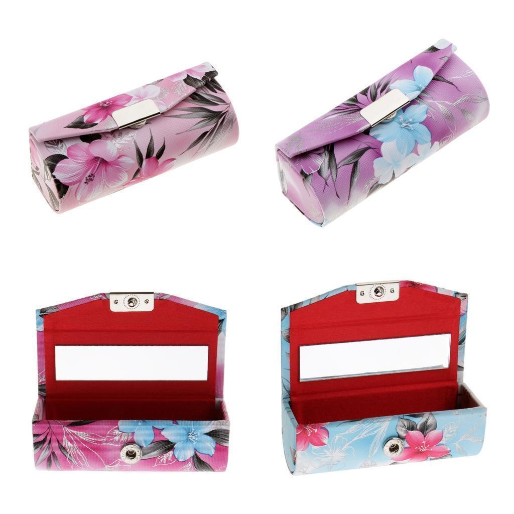 Custodia-in-pelle-per-rossetto-Borsa-per-organizer-per-borsa-Porta miniatura 5