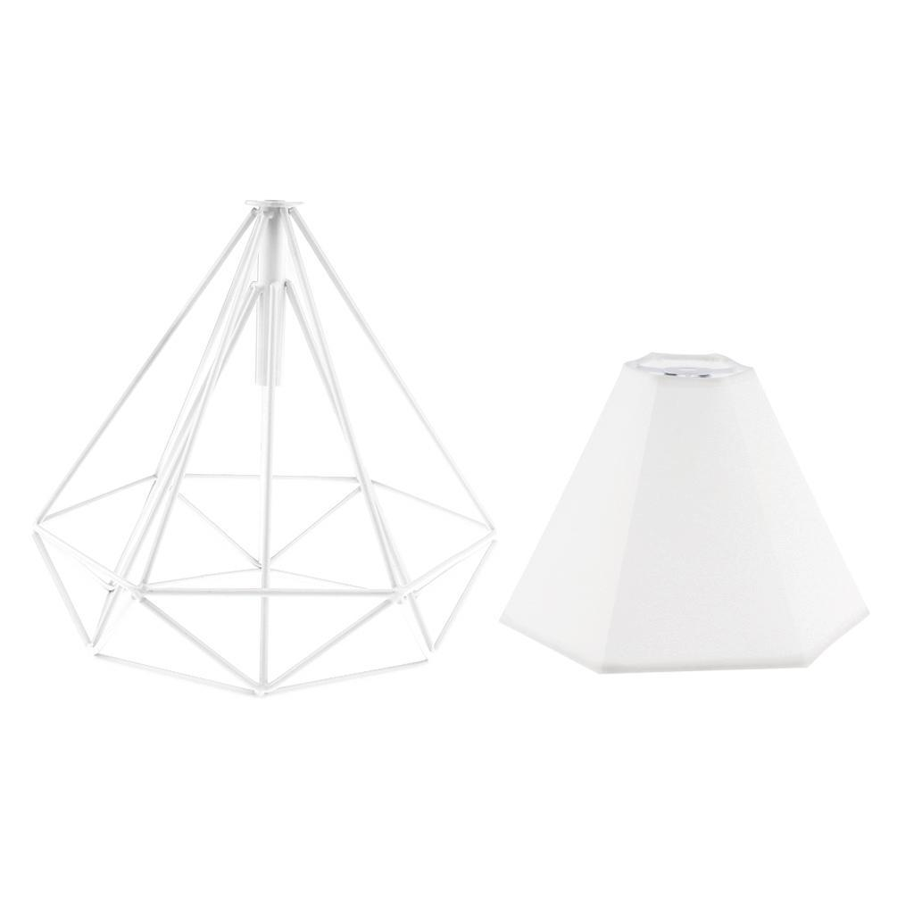 Modern-Geometric-Diamond-Caged-Ceiling-Pendant-Light-Shade-Easy-Fit-Lampshade thumbnail 6