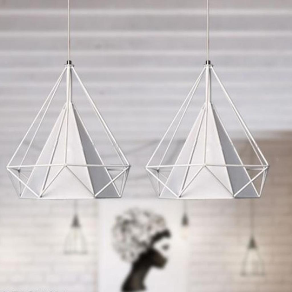Modern-Geometric-Diamond-Caged-Ceiling-Pendant-Light-Shade-Easy-Fit-Lampshade thumbnail 7