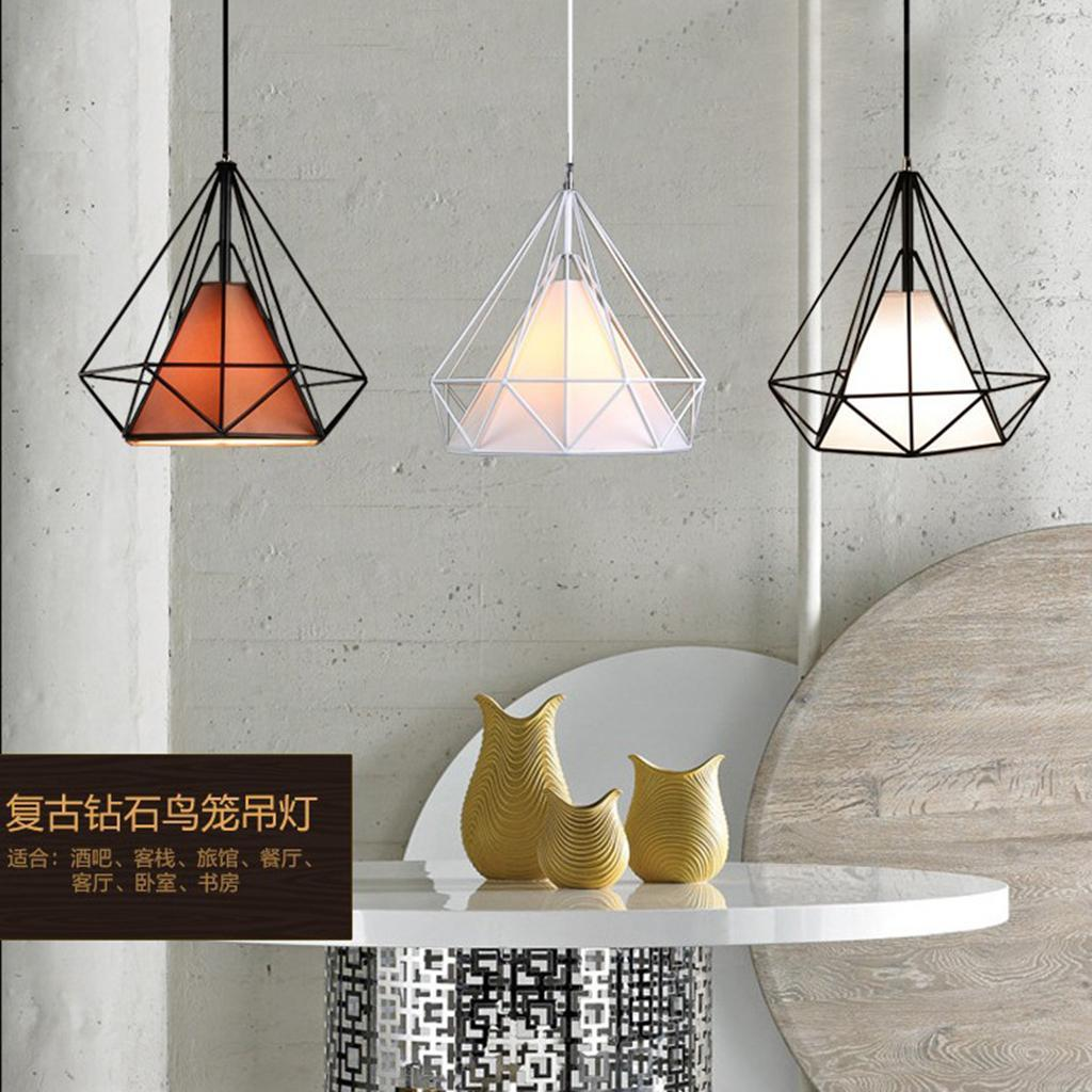 Modern-Geometric-Diamond-Caged-Ceiling-Pendant-Light-Shade-Easy-Fit-Lampshade thumbnail 8