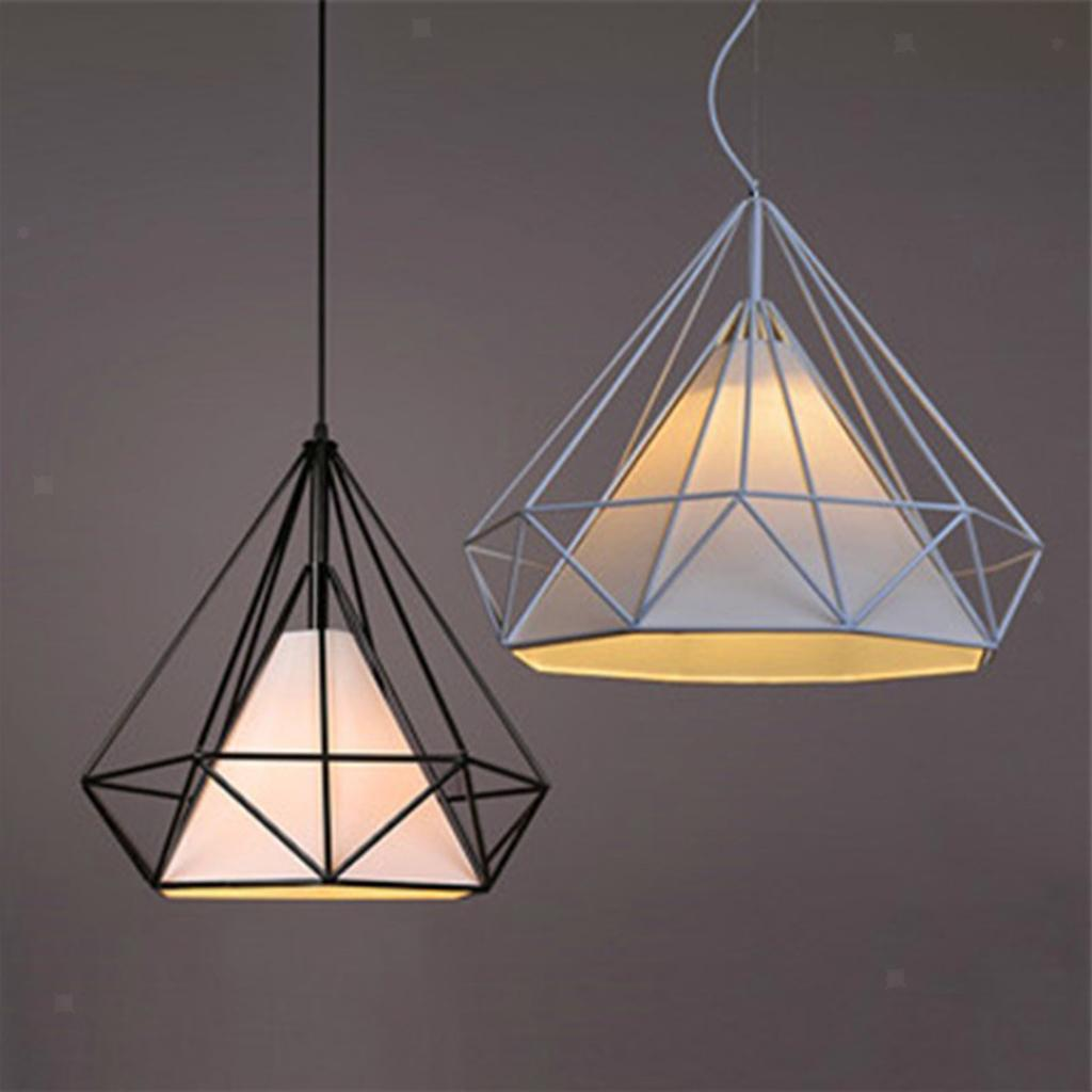 Modern-Geometric-Diamond-Caged-Ceiling-Pendant-Light-Shade-Easy-Fit-Lampshade thumbnail 9