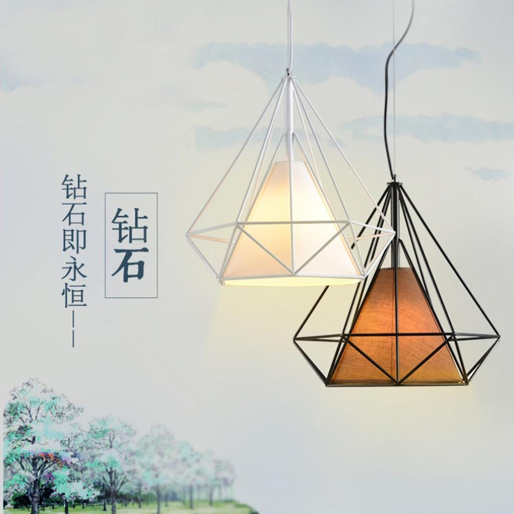 Modern-Geometric-Diamond-Caged-Ceiling-Pendant-Light-Shade-Easy-Fit-Lampshade thumbnail 11