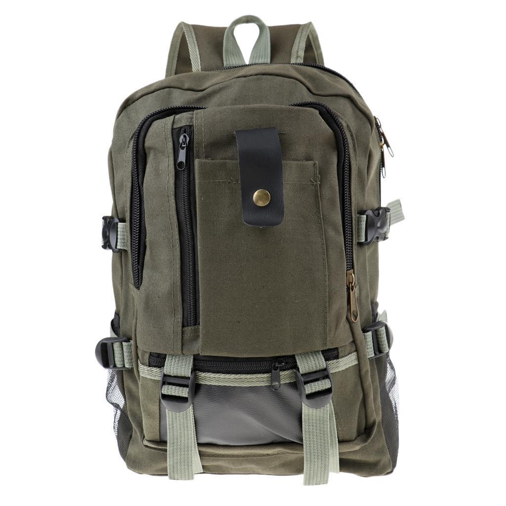 Sac-a-dos-En-Toile-Sac-D-039-ordinateur-Portable-Cartable-Pack-De-Sport-En miniature 5