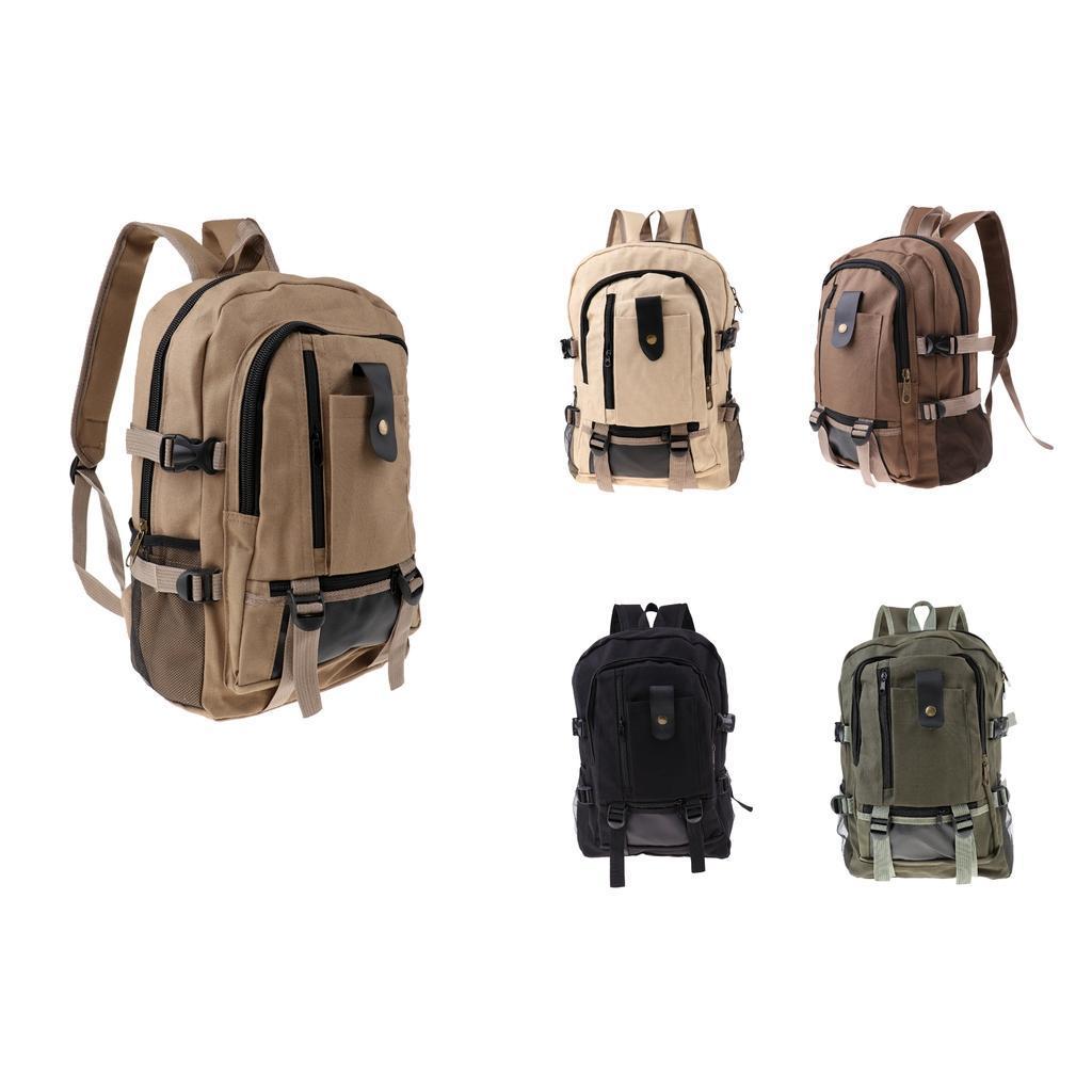 Sac-a-dos-En-Toile-Sac-D-039-ordinateur-Portable-Cartable-Pack-De-Sport-En miniature 6