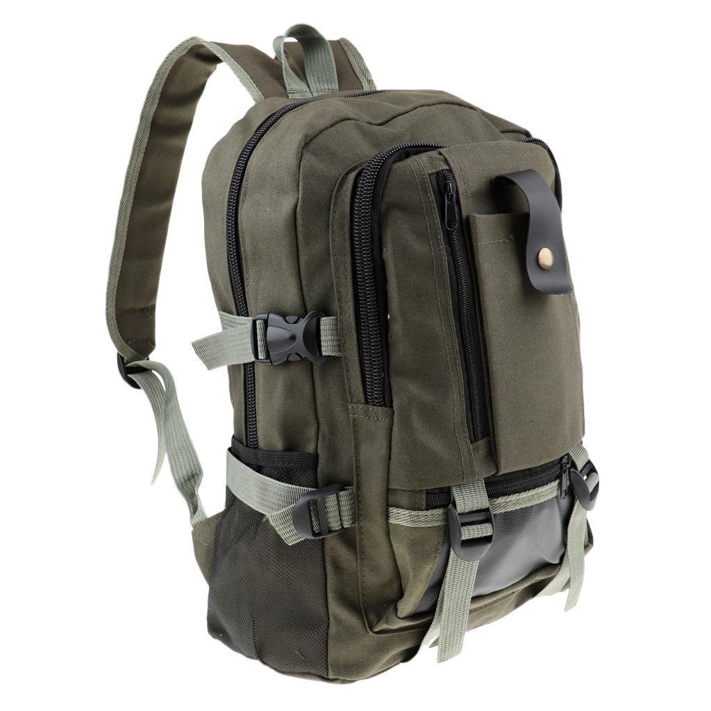 Sac-a-dos-En-Toile-Sac-D-039-ordinateur-Portable-Cartable-Pack-De-Sport-En miniature 3