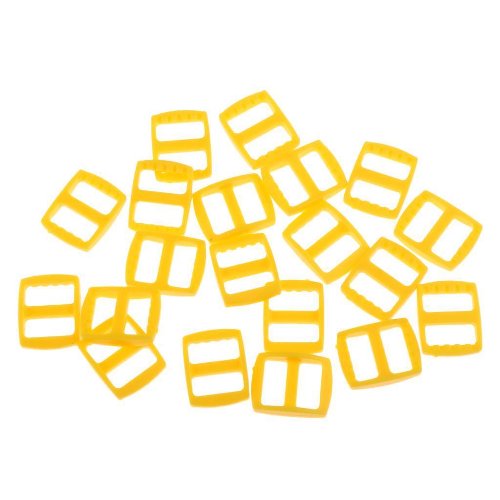 20-Pezzi-di-Fibbia-a-Tessitura-Webbing-Buckle-Accessori-di-Campeggio miniatura 4