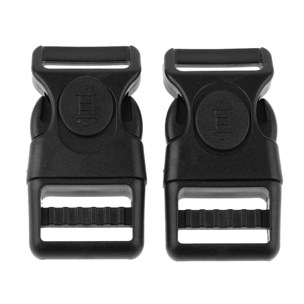 10 Pieces Plastic Black Curved Buckles Side Release for Paracord Bracelet