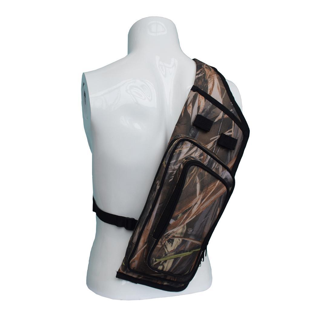 Archery Hunting Arrow Back Quiver Shoulder Bag Pouch Pocket Holder for Outdoor