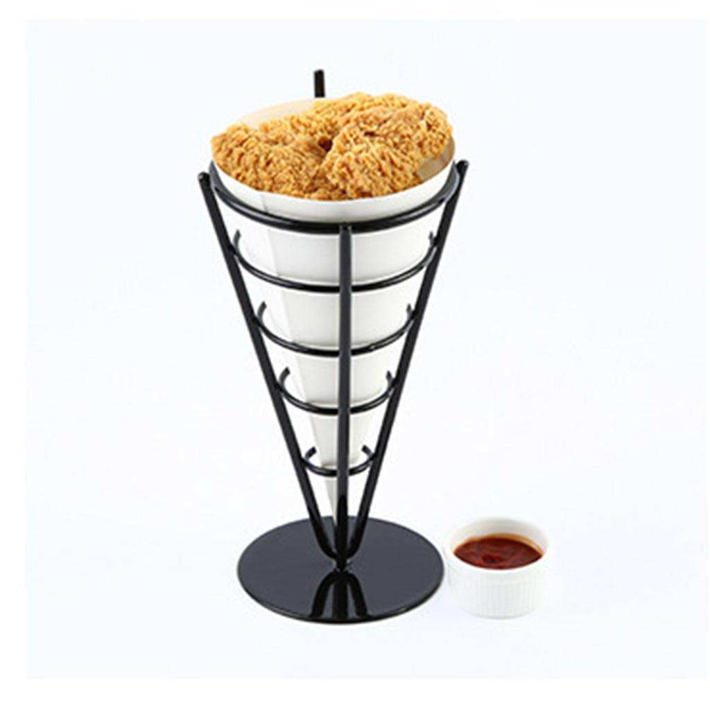 French-Fry-Stand-Cone-Basket-Holder-for-Fries-Fish-and-Chips-and-Appetizers thumbnail 7