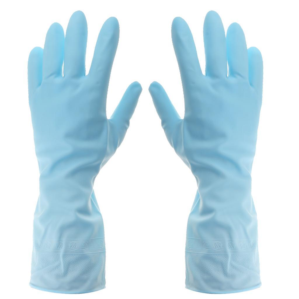 Gloves-Dish-Washing-Cleaning-Waterproof-Soft-Rubber-Scouring-Kitchen-Gloves thumbnail 13