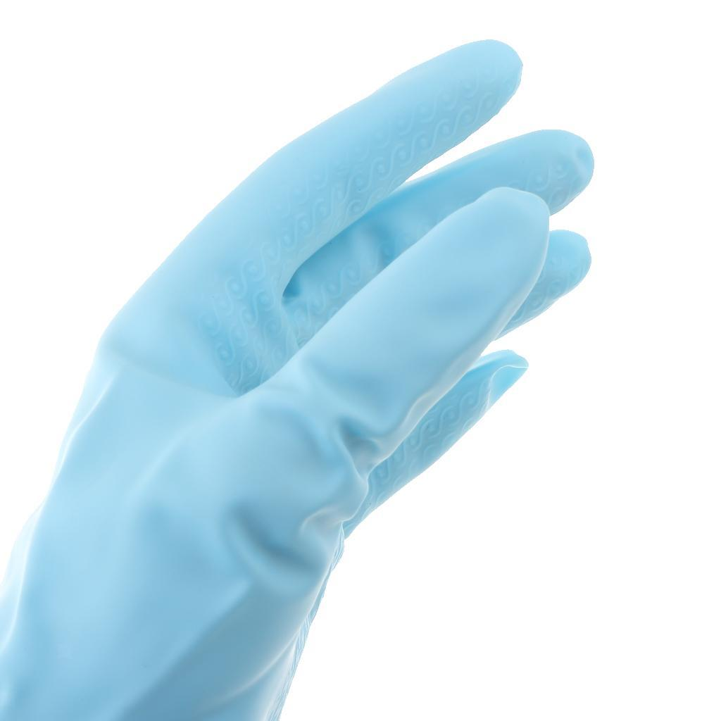 Gloves-Dish-Washing-Cleaning-Waterproof-Soft-Rubber-Scouring-Kitchen-Gloves thumbnail 12