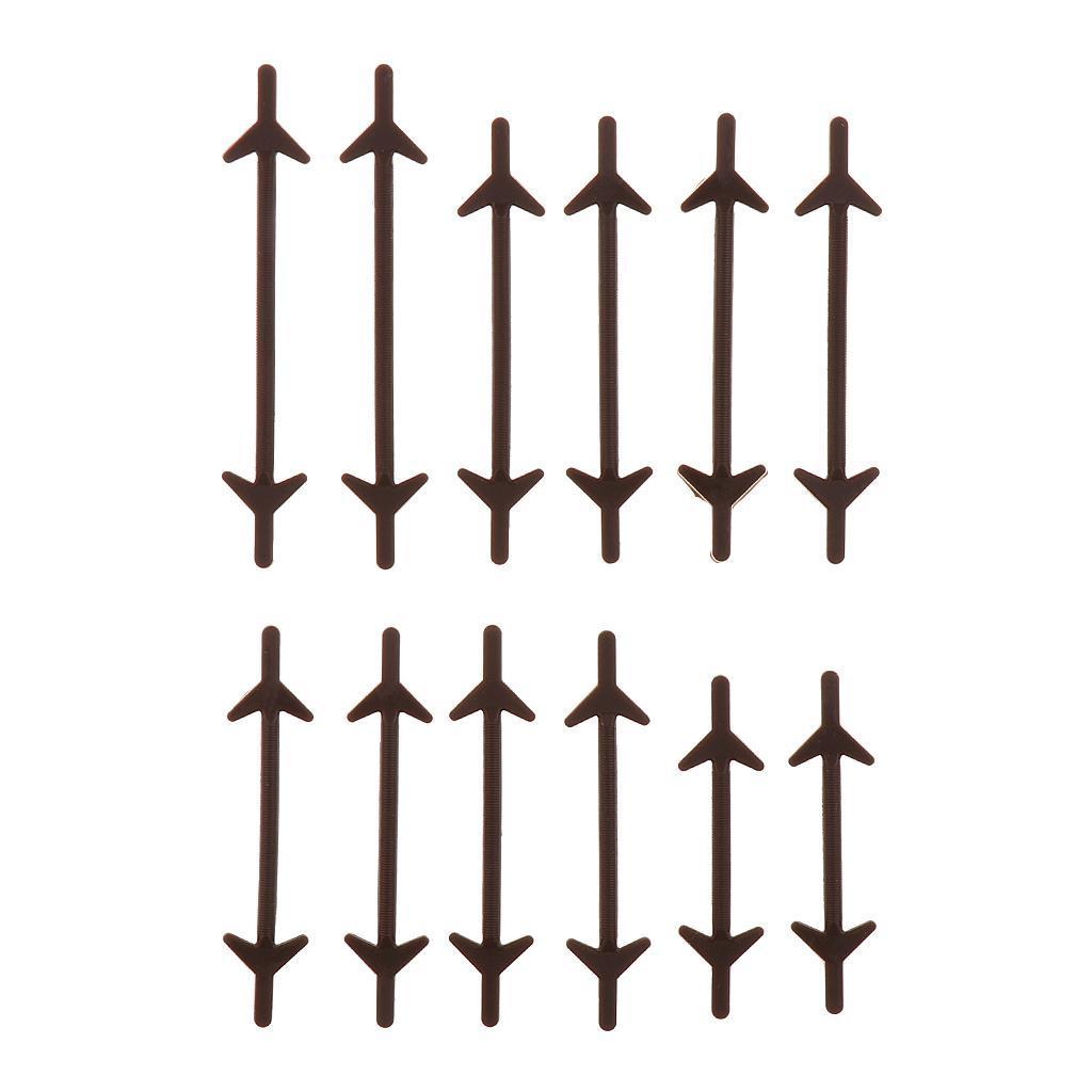 12pc-set-unisexe-sans-lacets-lacets-baskets-en-silicone-elastique miniature 8
