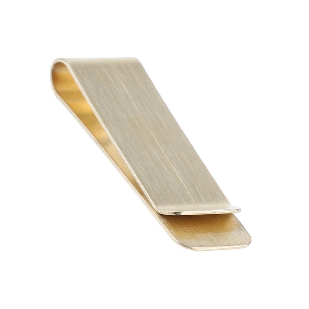 Gold Brass Mens Fashion Money Clip Purse Wallet Card Cash Holder Clip