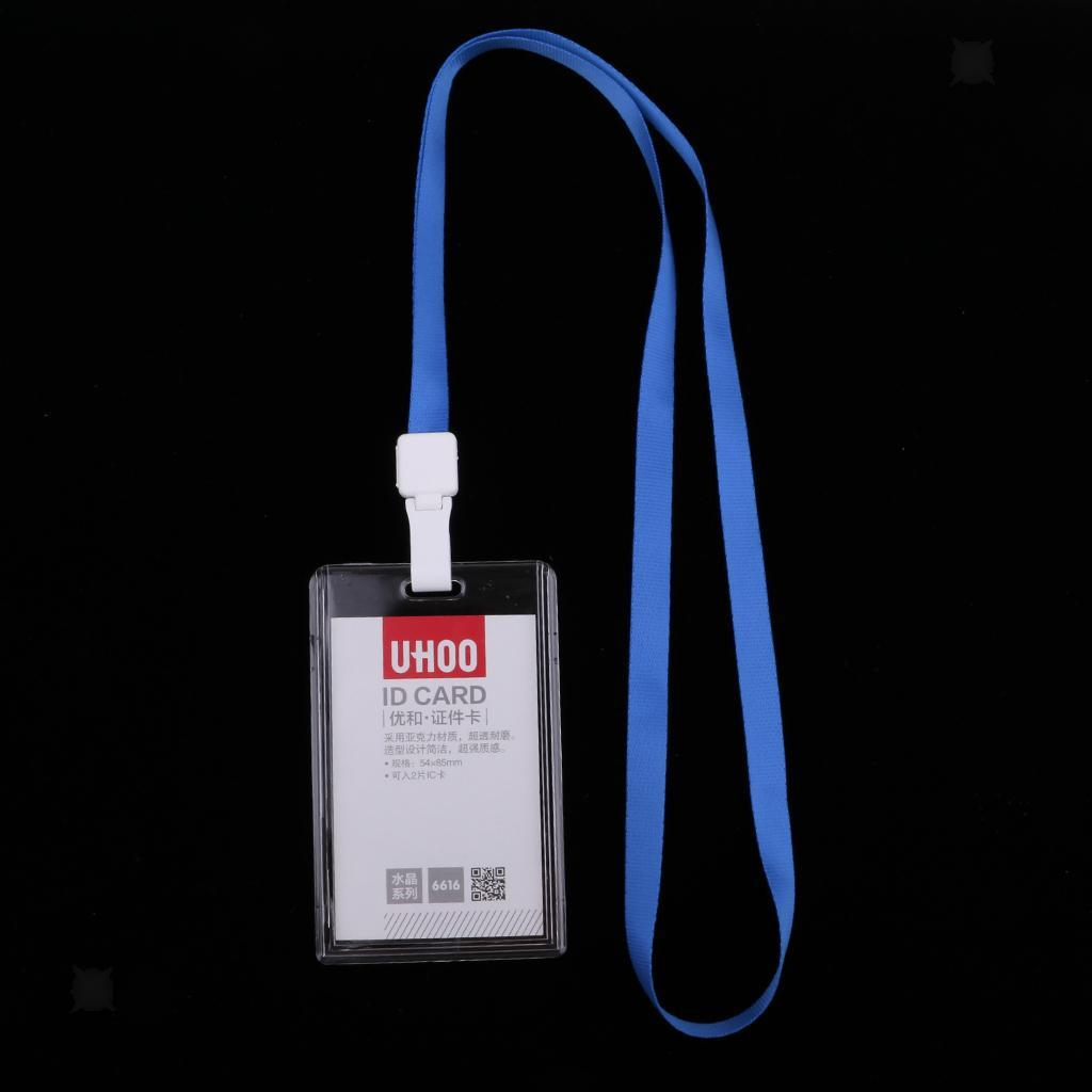 Lanyard-Neck-Strap-ID-Pass-Card-Badge-Holder-for-School-Students-Company thumbnail 4