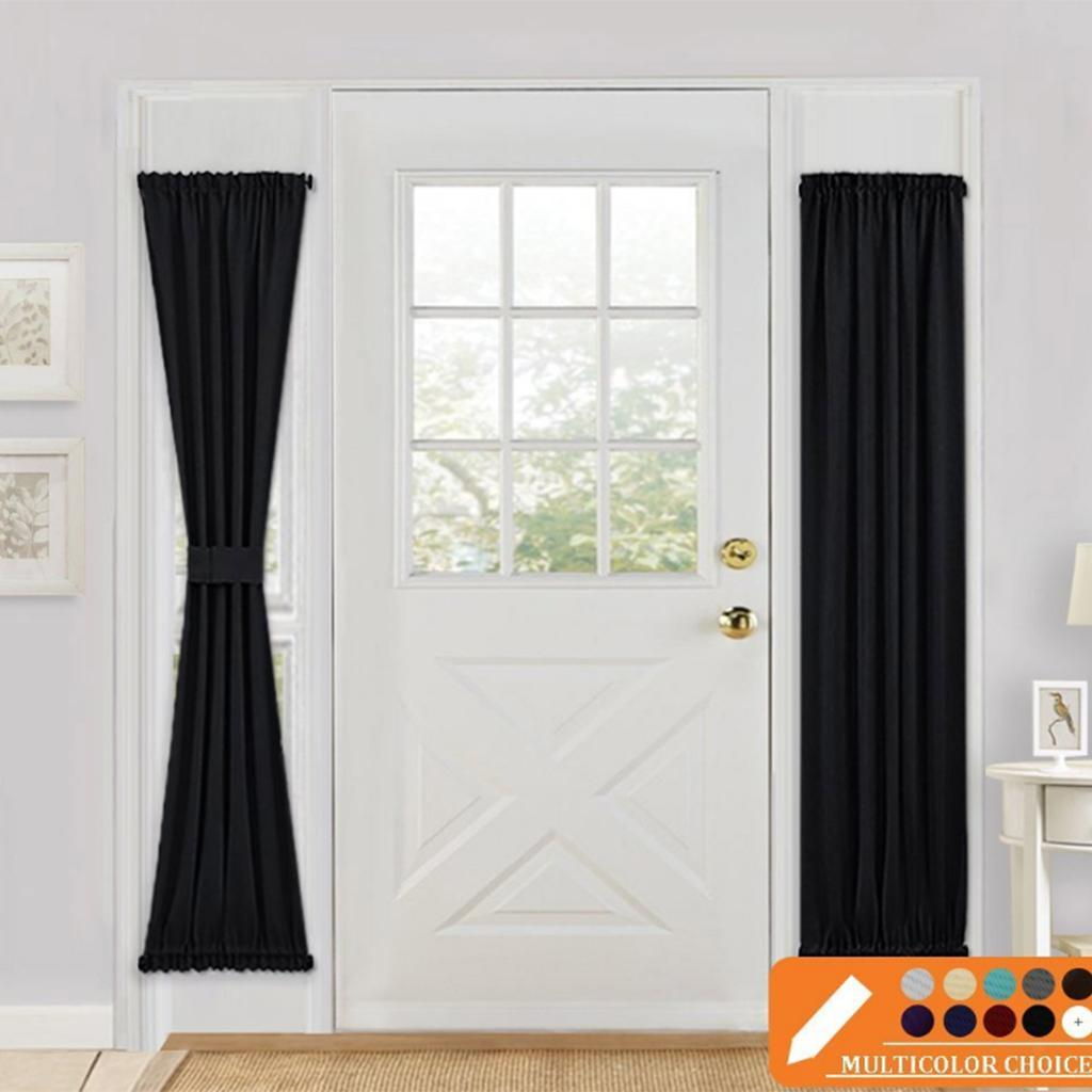 Solid-Color-Blackout-French-Door-Curtain-Panel-Rod-Pocket-Window-Treatment thumbnail 7