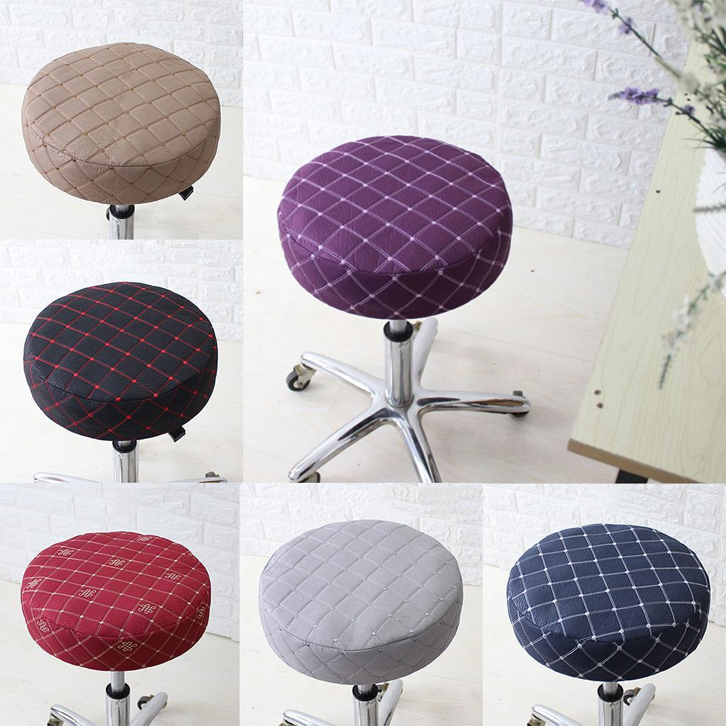 13 33cm bar stool cover round chair seat cover sleeve elastic