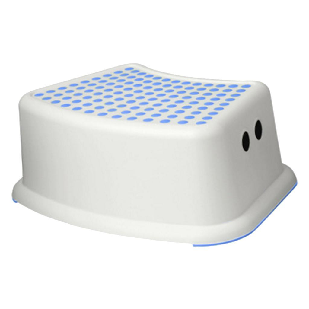 Plastic Kids Toilet Foot Step Stool For Lowes Height Blue